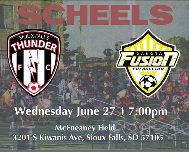 Tomorrow night! Bring the whole family for great soccer action plus Bouncy Houses for the kids!! NEXT UP: 🆚 home vs @dakota_fusion_fc 📅 Wednesday June 27 ⏰ 7:00pm 🏆 @NPSL_North 🏟️ McEneaney Field  3201 S Kiwanis Ave, Sioux Falls, SD 57105