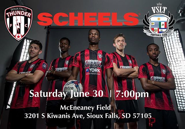 NEXT UP: 🆚 home vs @vsltfc14 📅 Saturday June 30 ⏰ 7:00pm 🏆 @NPSL_North 🏟️ McEneaney Field  3201 S Kiwanis Ave, Sioux Falls, SD 57105