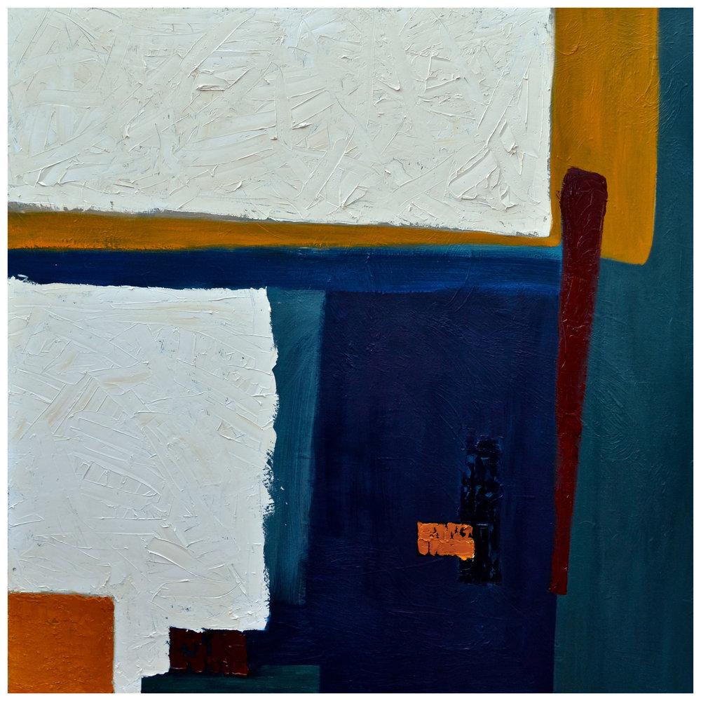 "Manta en Ftalo , Oil on canvas, 48"" x 48"""