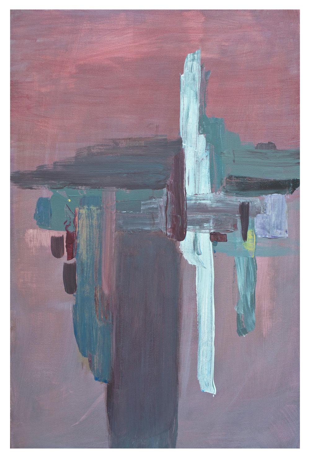 """Sundown , Acrylic on canvas, 20"""" x 30"""""""
