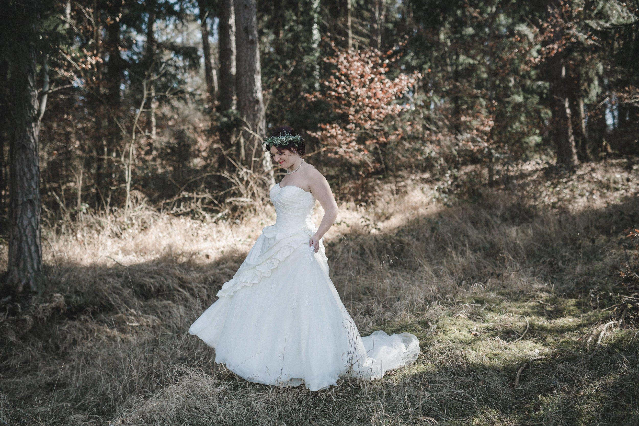 Yessica Baur Fotografie Brautmodeshooting Hirrlingen Spieglein