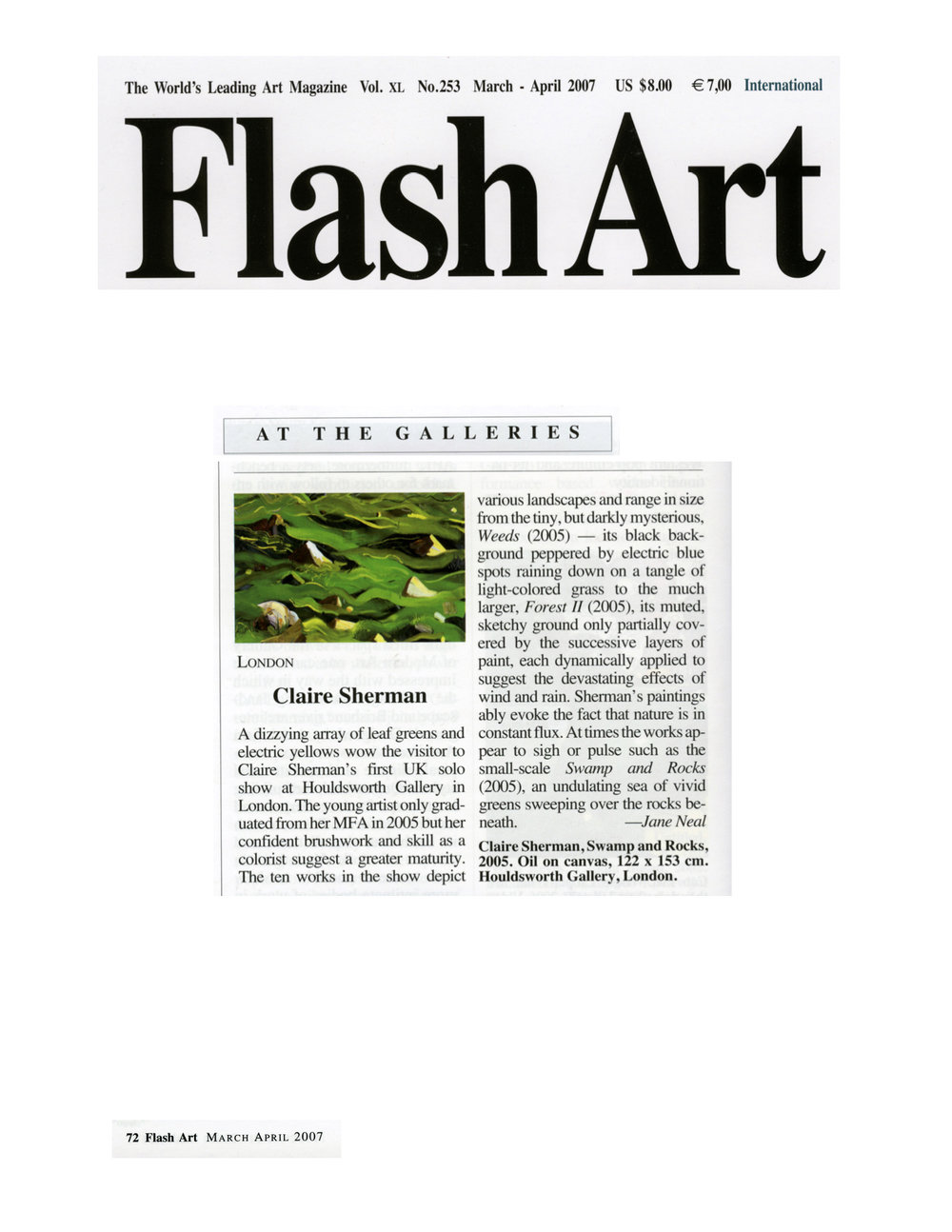 Flash Art, March/April 2007