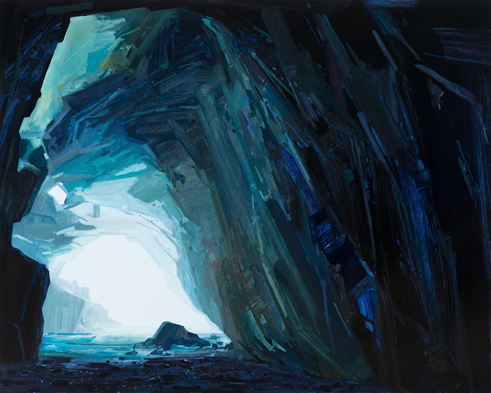 Sea Cave, 2016, Oil on canvas, 78 x 96""