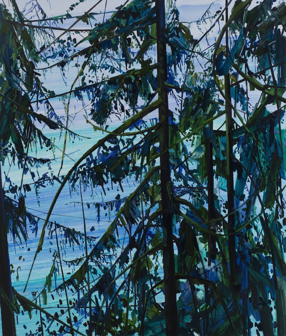Trees and Water, 2016, Oil on canvas, 78 x 66""