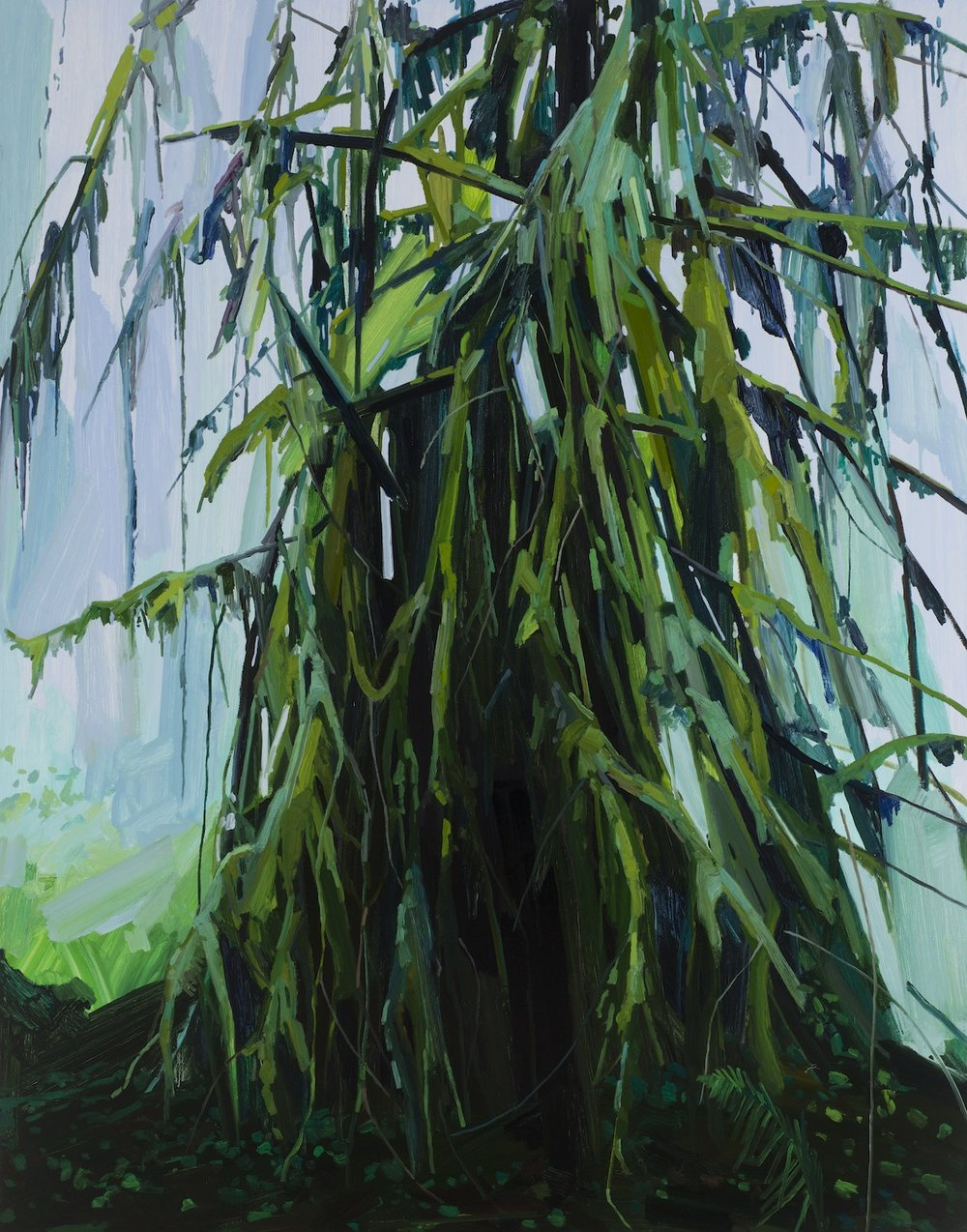Tree , 2016, Oil on canvas, 84 x 66""