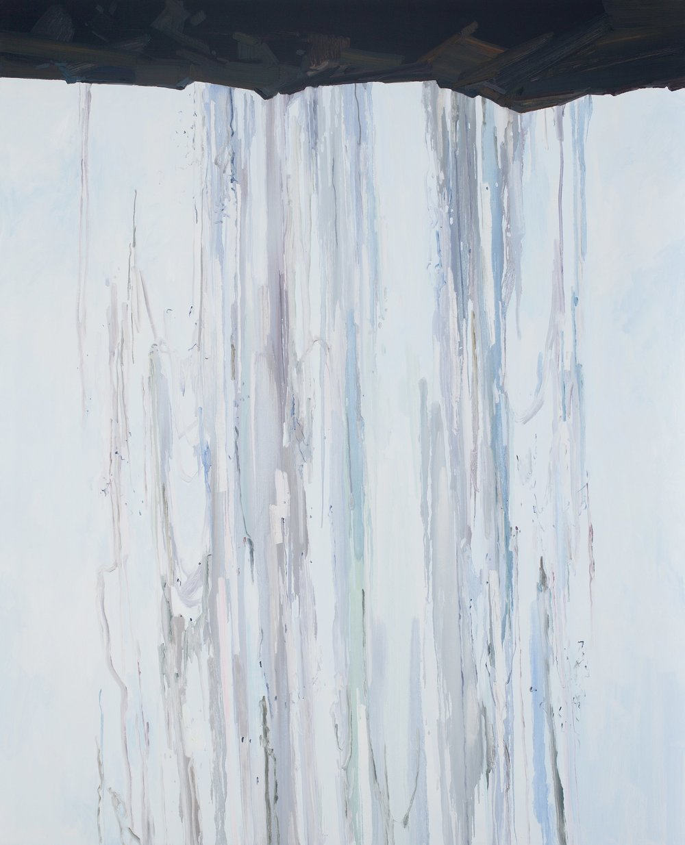 Waterfall, 2014, Oil on canvas, 96x78""