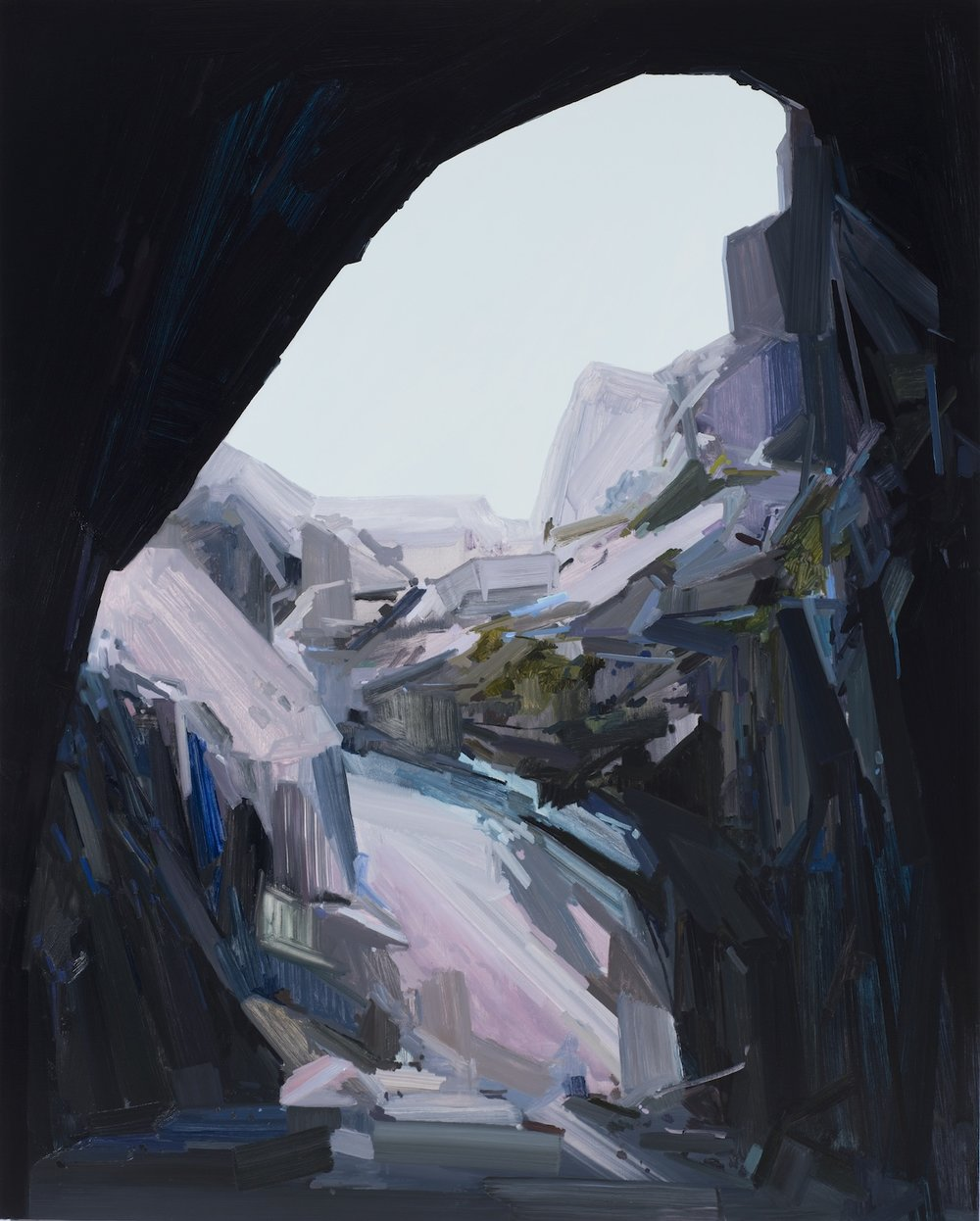Cave , 2015, Oil on canvas, 96 x 78""