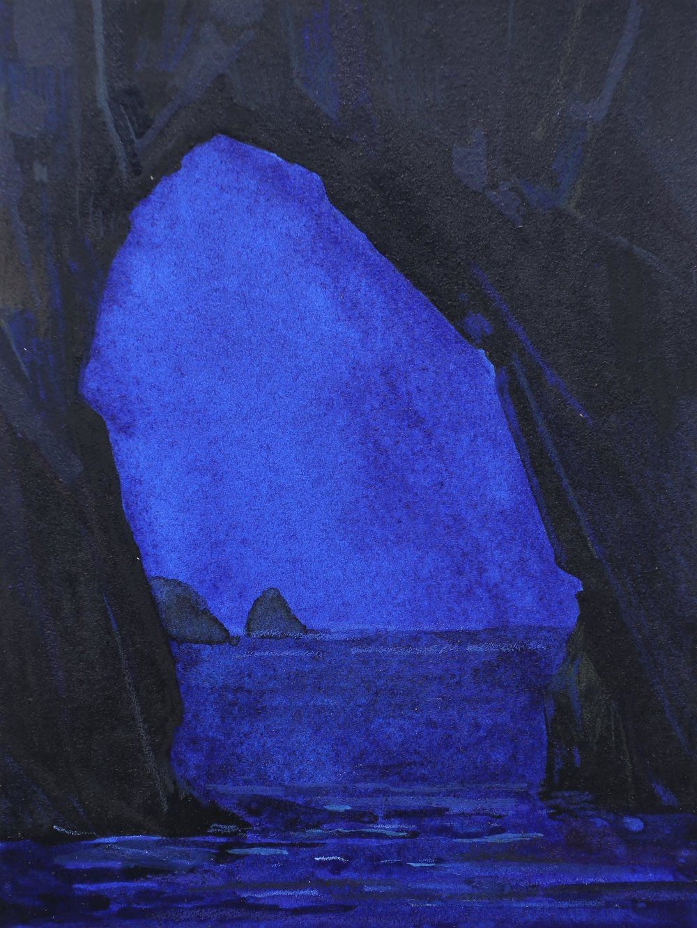 Sea Cave and Night, 2016