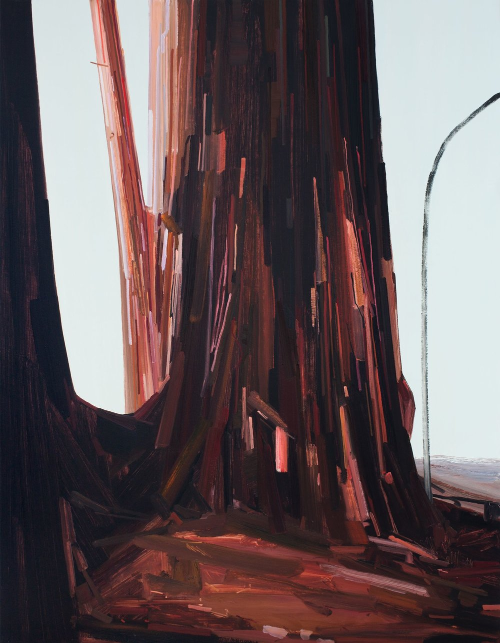 Tree , 2014, Oil on canvas, 108 x 84""