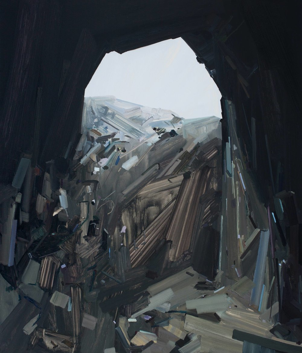 Cave, 2014, Oil on canvas, 84 x 72""