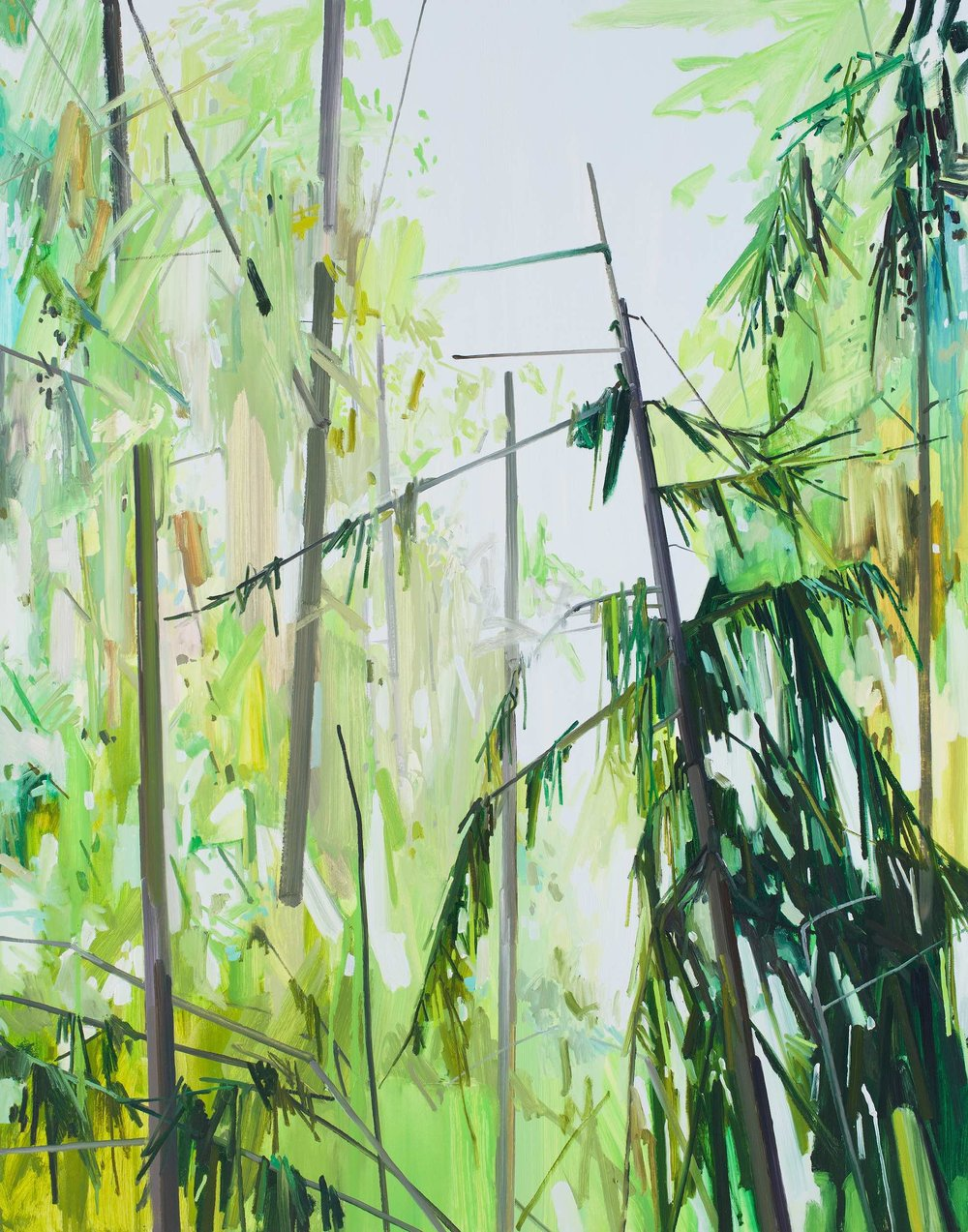 Trees , 2013, Oil on canvas, 84 x 66""