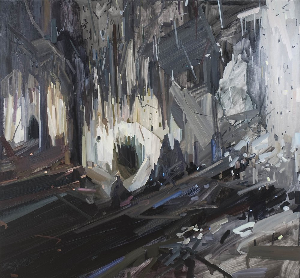 Cave , 2011, Oil on canvas, 78 x 84""
