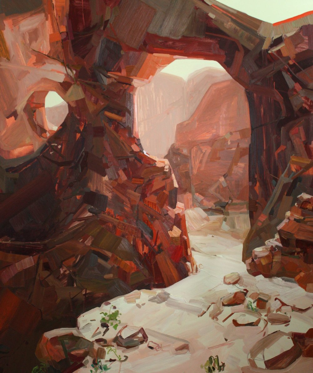 Arches, 2009, Oil on canvas, 108 x 84""