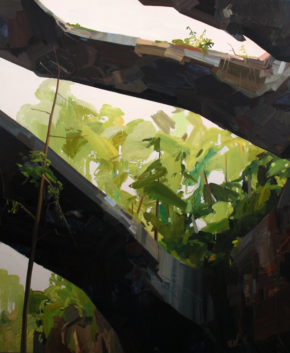 Arches, 2009, Oil on canvas, 102 x 84""