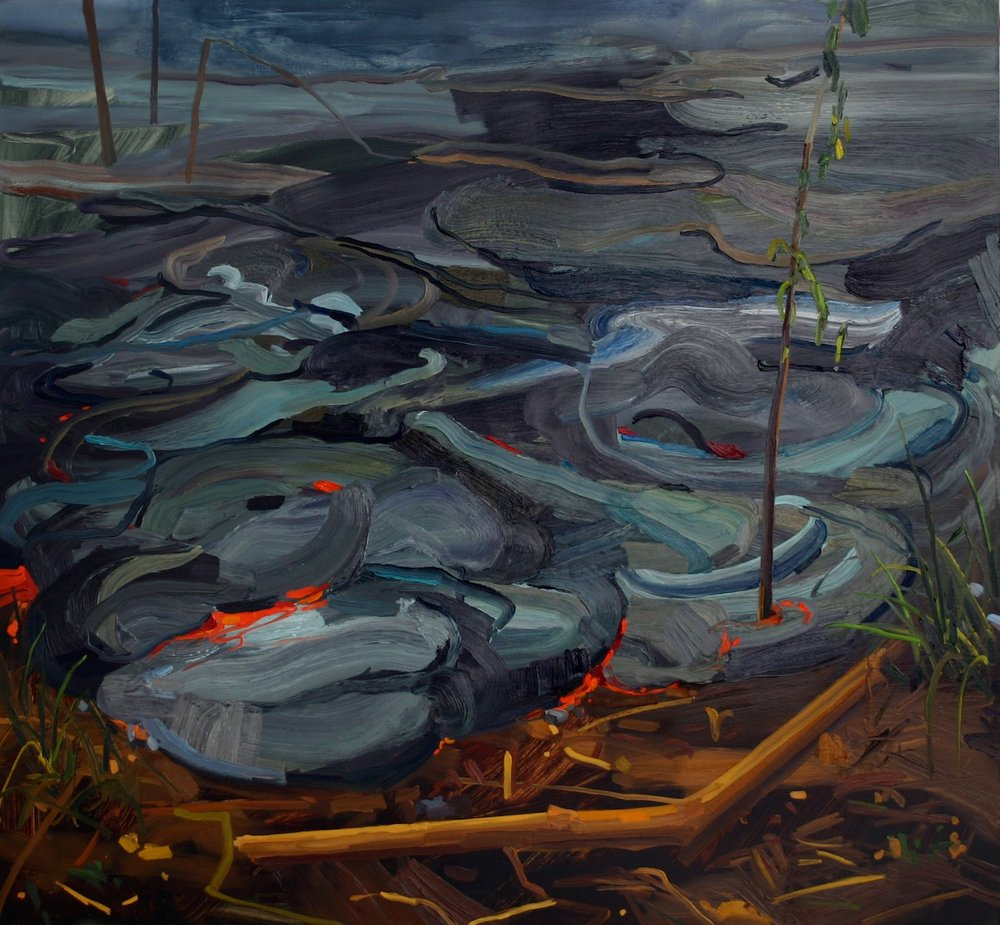 Lava, 2007, Oil on canvas, 66 x 72""