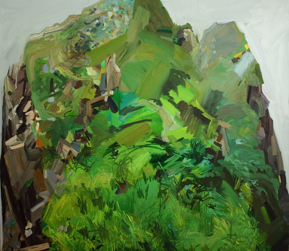 Mountain, 2007, Oil on canvas, 84 x 96""