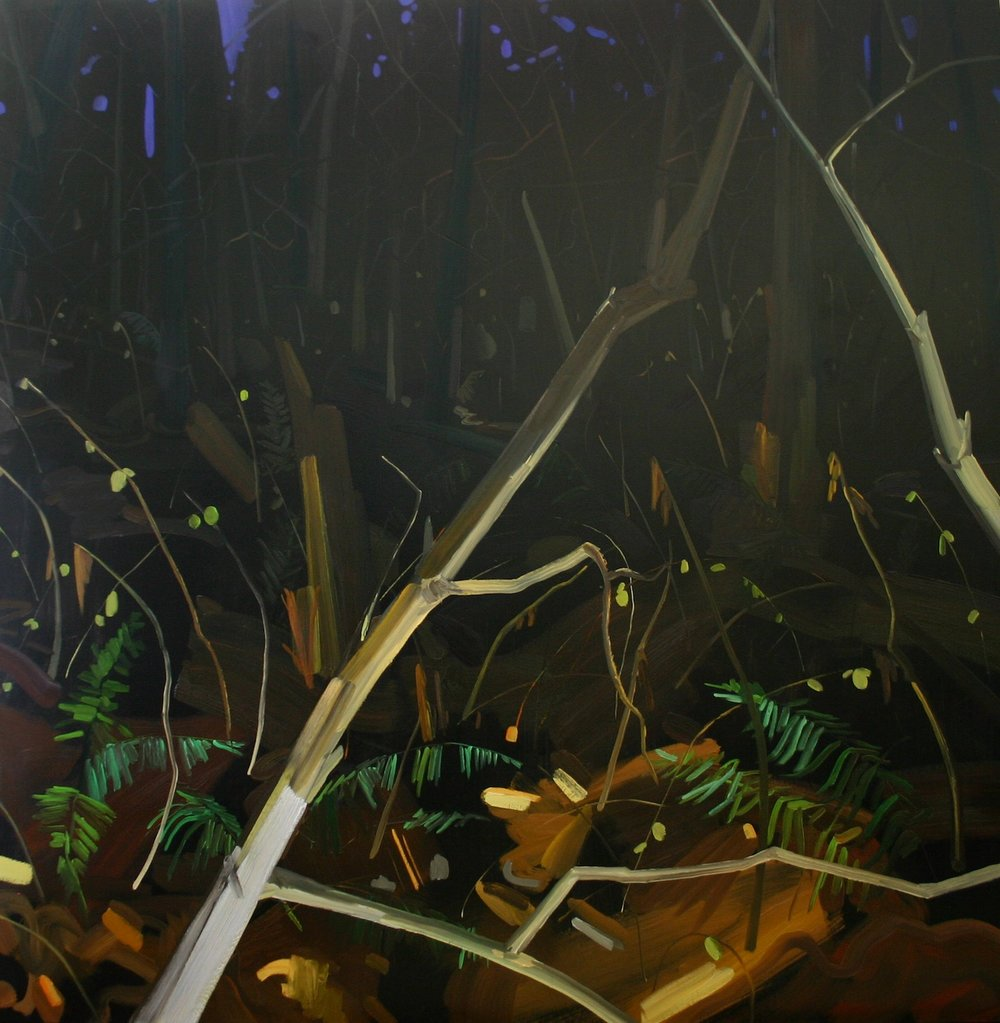Weeds , 2006, Oil on canvas, 60 x 60""