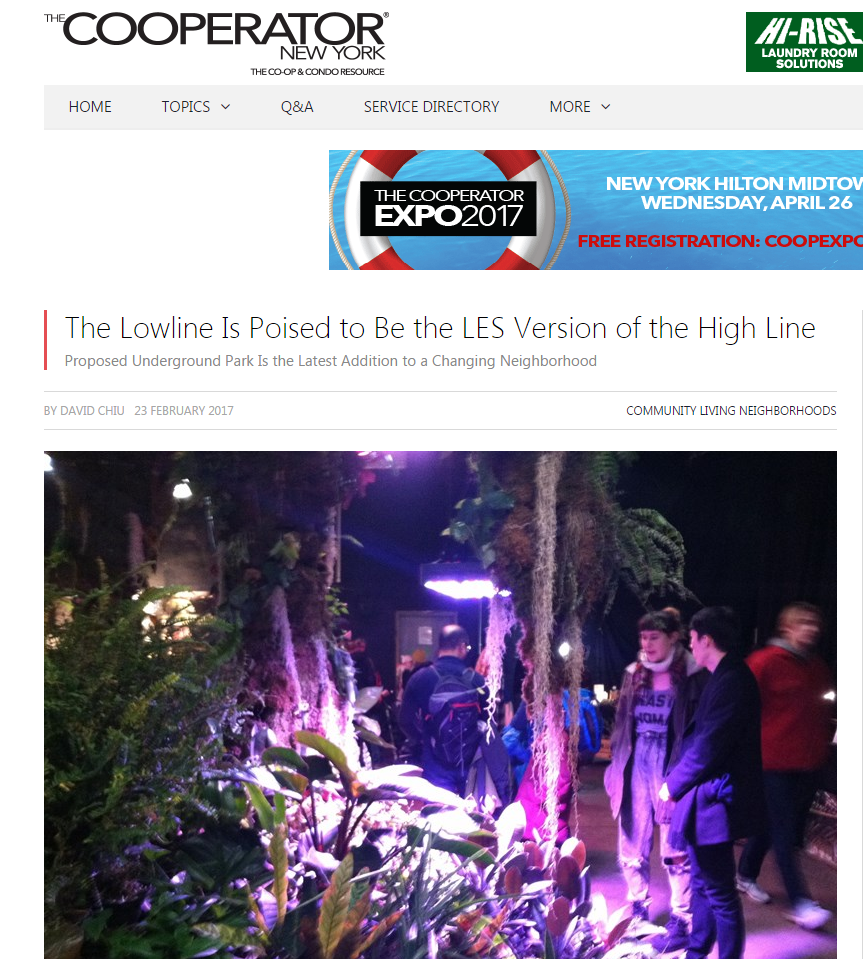 THE LOWLINE IS POISED TO BE THE LES VERSION OF THE HIGH LINE