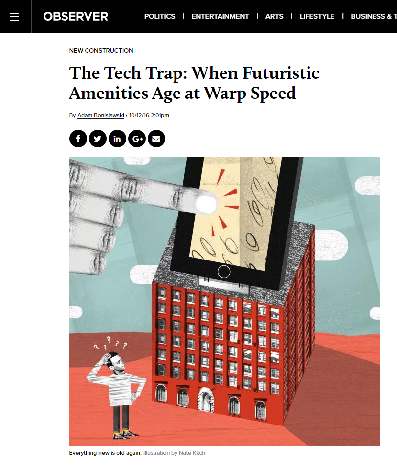 THE TECH TRAP: WHEN FUTURISTIC AMENITIES AGE AT WARP SPEED