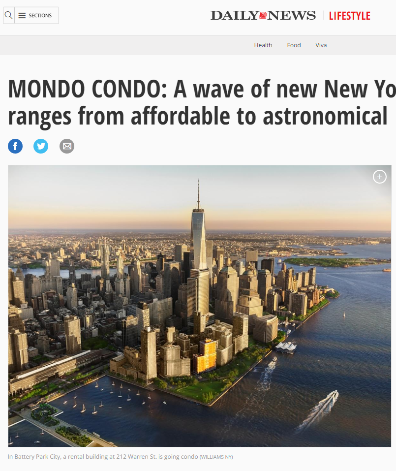 MONDO CONDO: A WAVE OF NEW NEW YORK CITY CONDOS RANGES FROM AFFORDABLE TO ASTRONOMICAL
