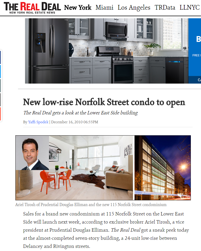 NEW LOW-RISE NORFOLK STREET CONDO TO OPEN
