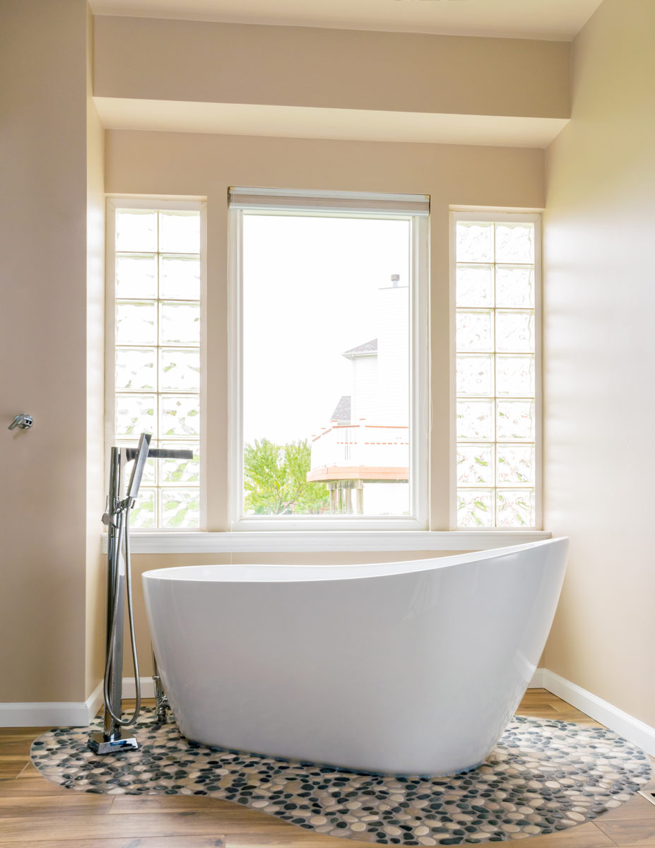 Calming Bathroom Retreat Influenced By Nature — LU Design | Build