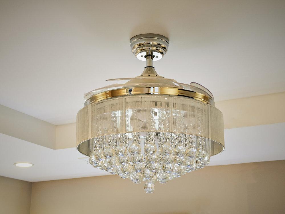 Ornate Overhead Light Fixture