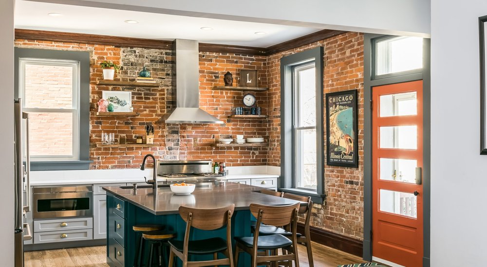 eclectic kitchen and living space - Eclectic Kitchen