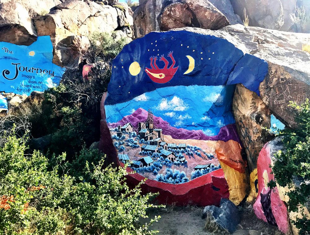 Murals in Chloride, Arizona