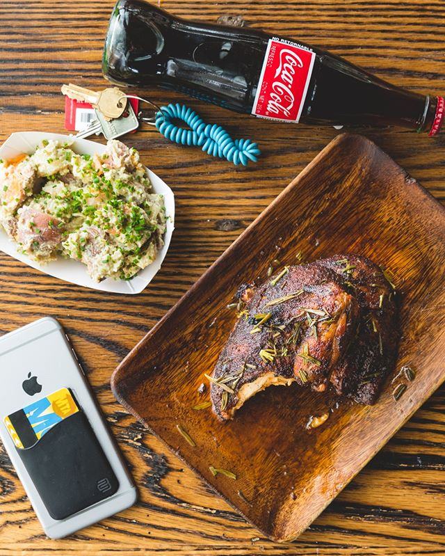 Lunchin' harder than you party. Grab our lunch special every weekday till' 4pm and get 1/4lb meat, a side and drink #saltyboner