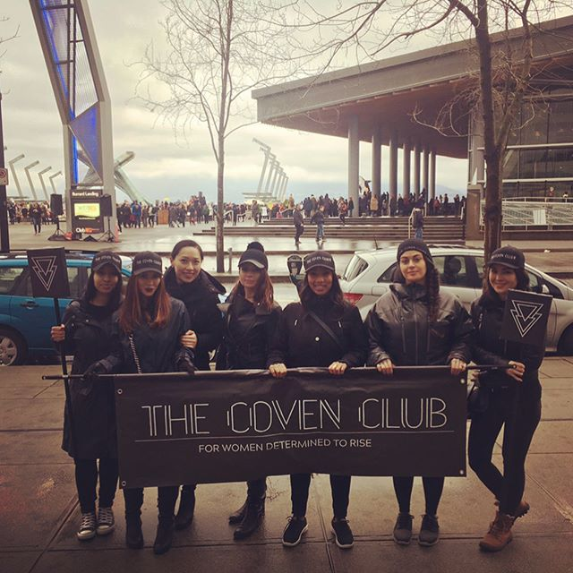 🔮☔️✊️ The pouring rain didn't stop your local Coven from stompin' it out! #CantStop #WontStop #TogetherWeRise #TheCovenClub #WomenWanted