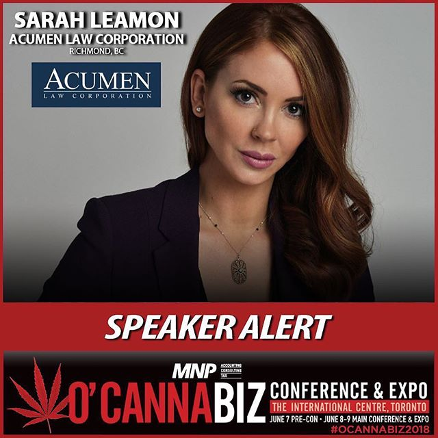 Coven Sisters Getting Things Done 🚨 Speaker Alert! Coven Club Co-Founder Sarah Leamon @sarahleamonlaw just announced as a keynote speaker @ocannabiz Conference and Expo taking place in Toronto on June 8th-9th, 2018. #OCANNABIZ2018 #thecovenclub #womenwanted Looking at the future of cannabis and the budding Canadian market, O'Cannabiz will explore the latest regulations, industry standards and best practices for medicinal and recreational marijuana. Join this ground-breaking event where patients, physicians, licensed producers (LPs), industry professionals and general public from across the world will gather to learn, network and advocate, while exploring the latest issues in Canada, a country at the vanguard of change in legislation and outlook.
