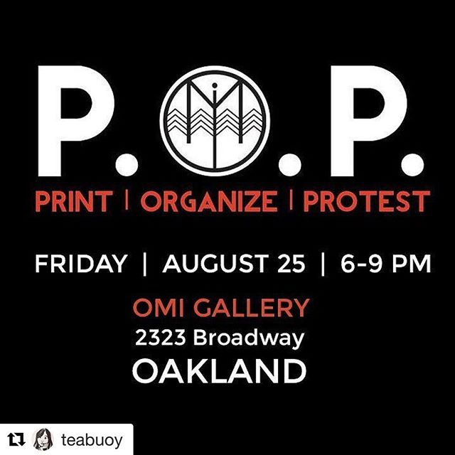 #Repost @teabuoy ・・・ Bay Area! Screen print your own shirts/signs/banners for anti-hate rallies this weekend and beyond with this family-friendly and FREE event hosted by @print.organize.protest and @omiarts @impacthboakland #printorganizeprotest