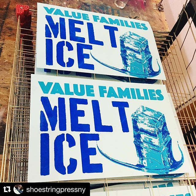 #Repost @shoestringpressny ・・・ Late night printing for Saturday's day of action. Just banged out 50 of these in the spirit of @print.organize.protest. Come by the press tomorrow to grab these plus protest favorites from @perchancepress @justseeds @bearbrains and others - we are resurrecting as much of our protest library as we can shoot and print.