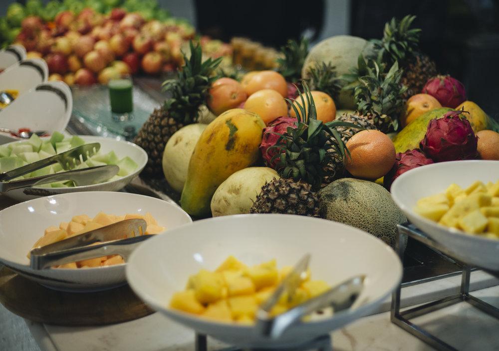 Tropical fruit breakfast Kuala Lumpur ritz Carlton