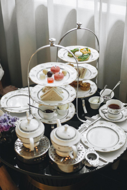 Luxury hotel afternoon tea Kuala Lumpur Ritz Carlton Fine dining