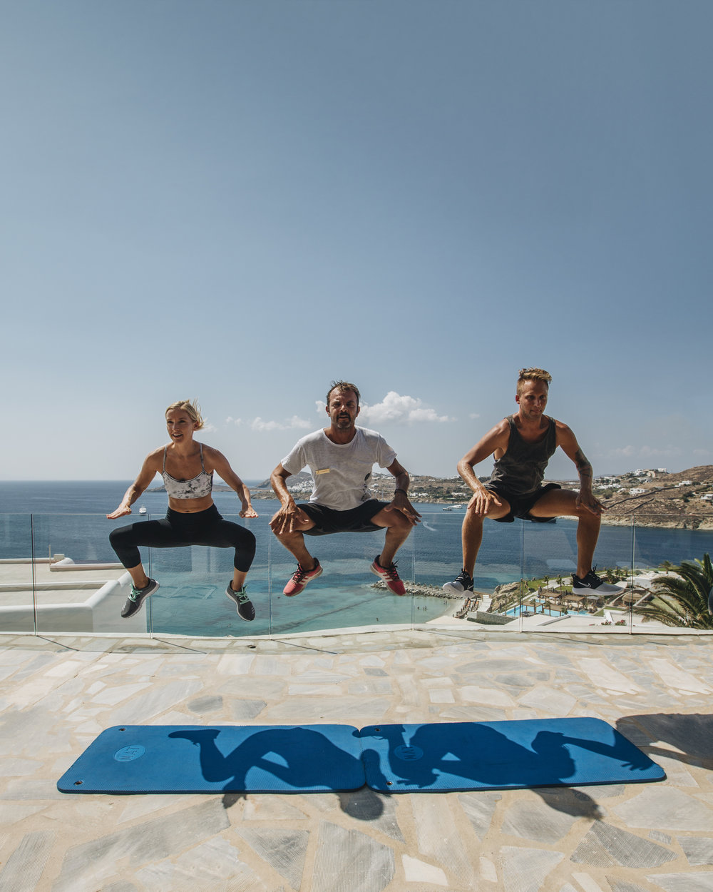 personal trainer work out in Mykonos, Greece
