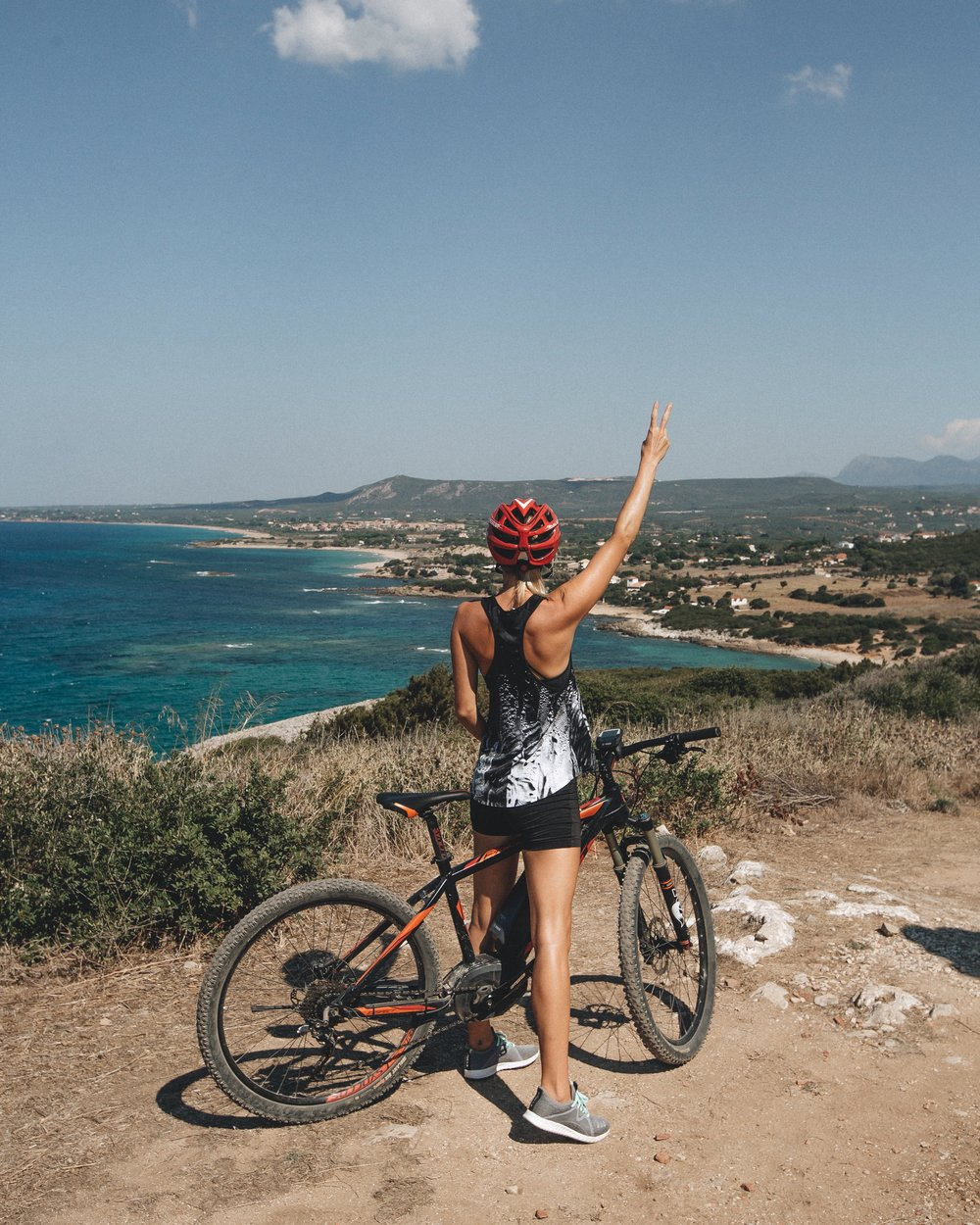 mountain biking in Crete, Greece