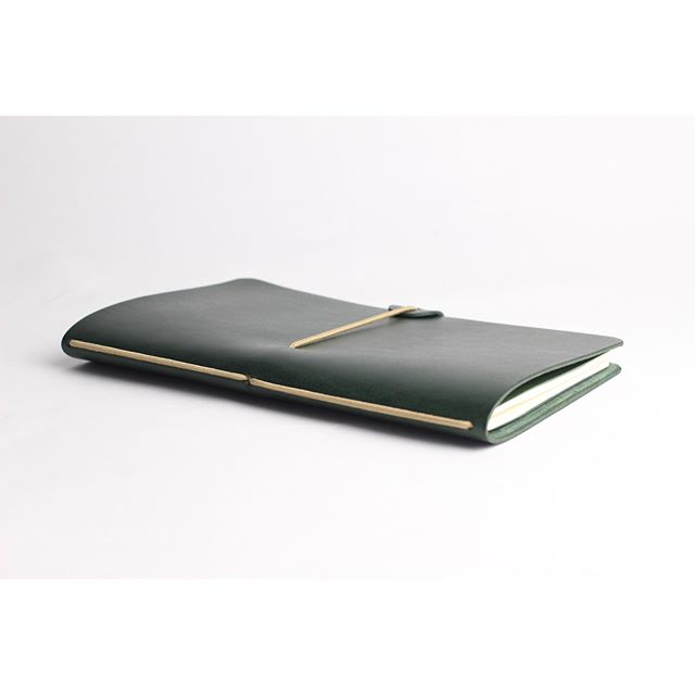 Our Notebook Covers in matte forest green leather 🌿 Holds a lovely little @moleskine notebook, for whenever inspiration strikes! Custom monogramming available.