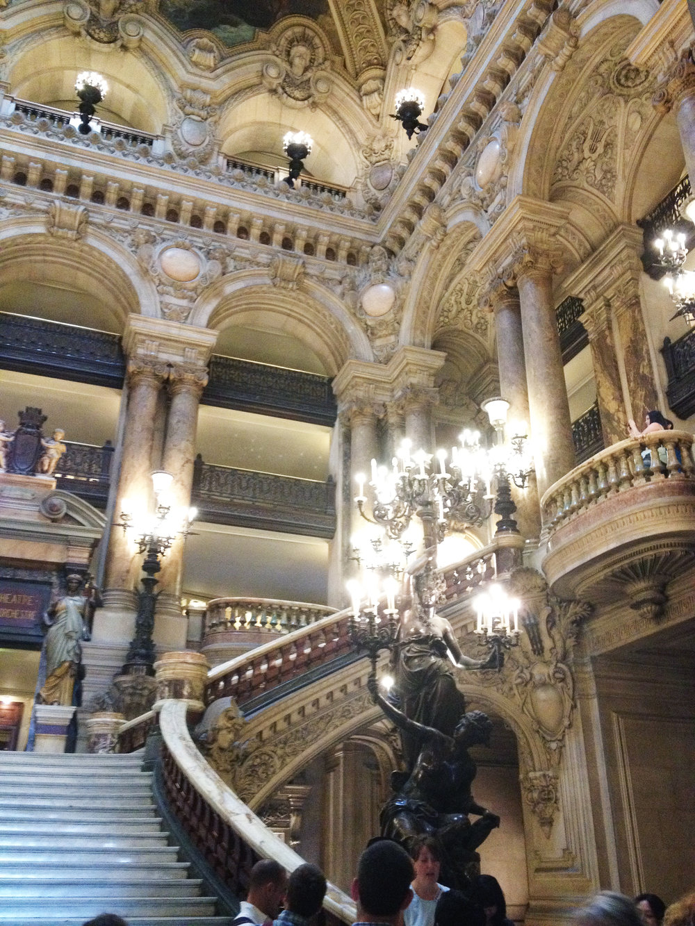 We had a free afternoon, so we decided to tour the Paris Opera House... best decision ever!