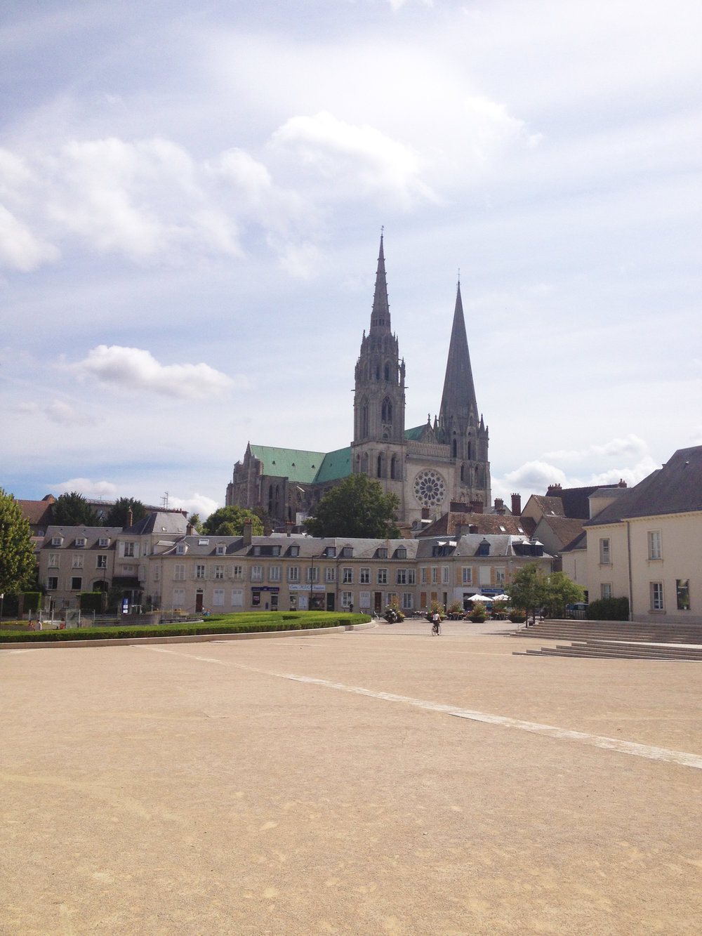The  beautiful little town of Chartres! We were lucky enough to get a tour of the cathedral from Malcolm Miller, who has devoted over 50 years to studying its architecture and stained glass.