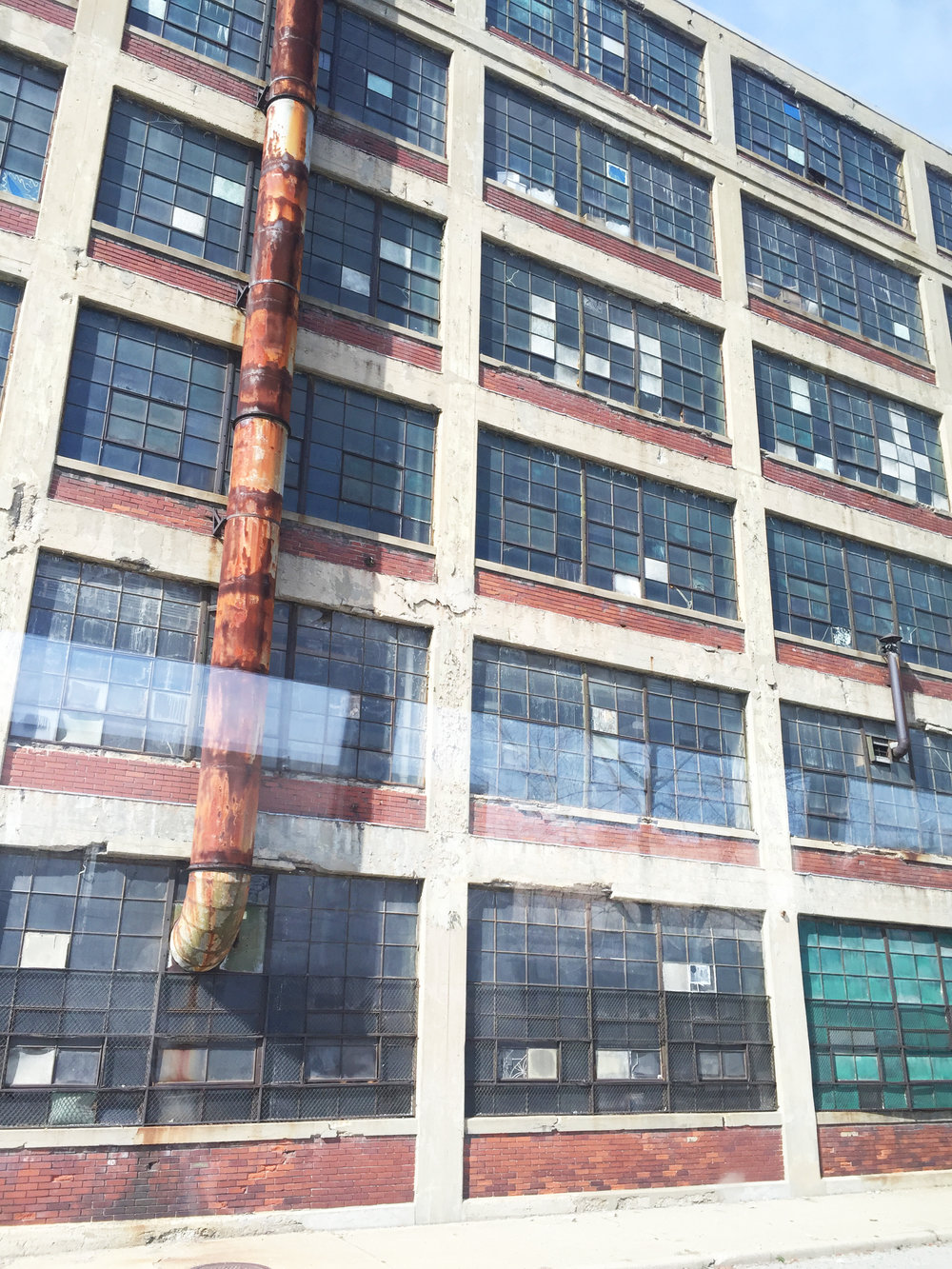 One of the saddest parts of our trip was seeing the old Ford Model T factory. Today it is completely abandoned and falling into disrepair. It really shows how Detroit, a once booming city, is now becoming forgotten and run down.