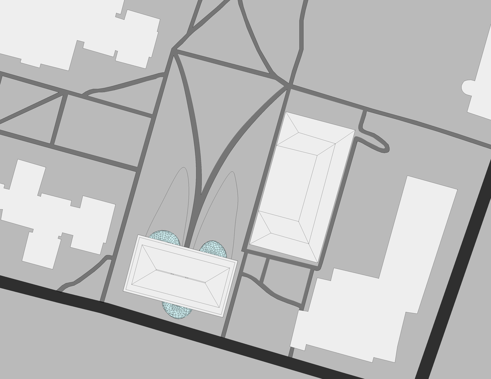 This is a plan of my design on the campus map.