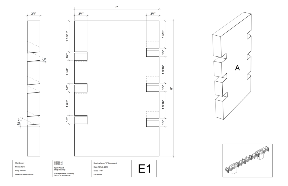Before getting approval to build our project, we had to complete a series of shop drawings