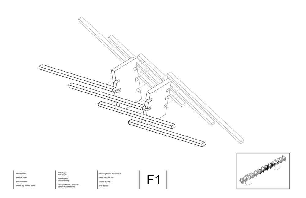 An assembly drawing showing how the sticks and planes connect.