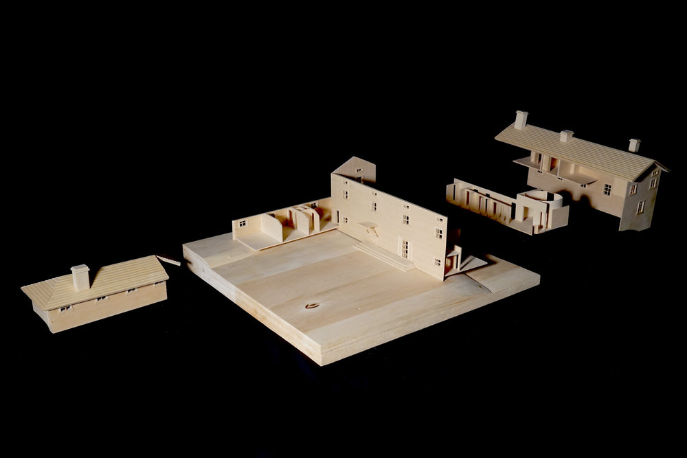 The model came apart to reveal the inner floor plan.