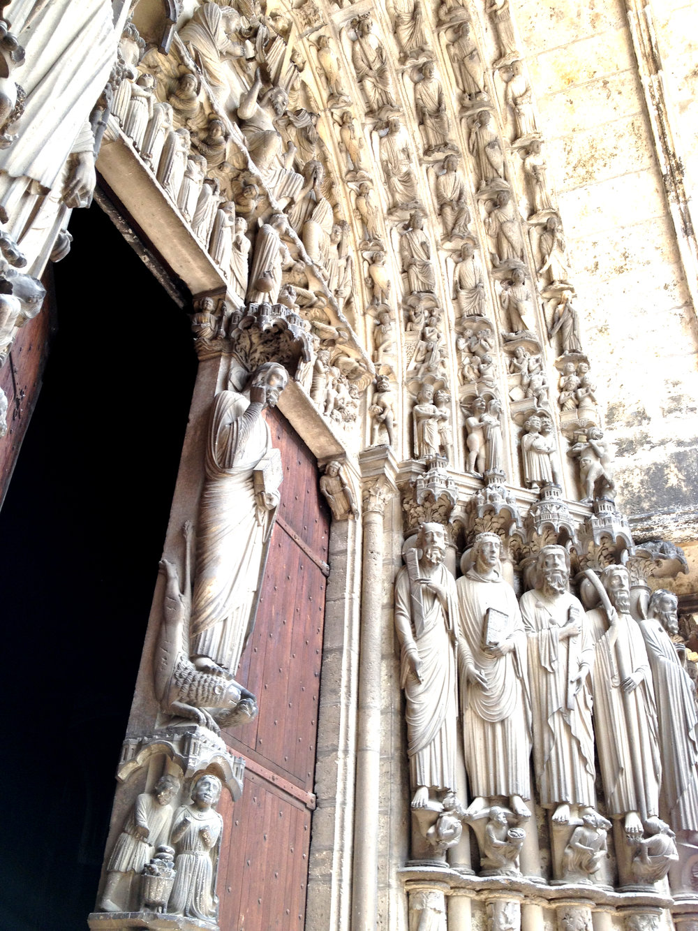 I'm always blown away at the sculptures on gothic cathedrals!