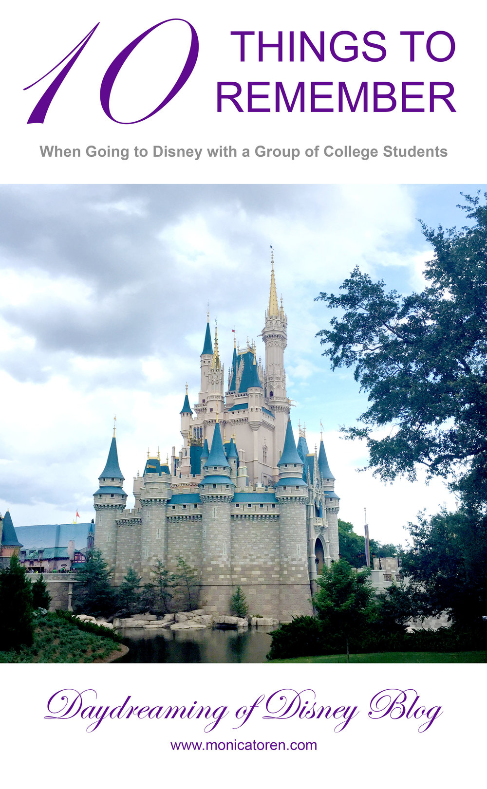 Daydreaming of Disney Blog - Ten Things to Remember When Going to Disney with a Group of College Students