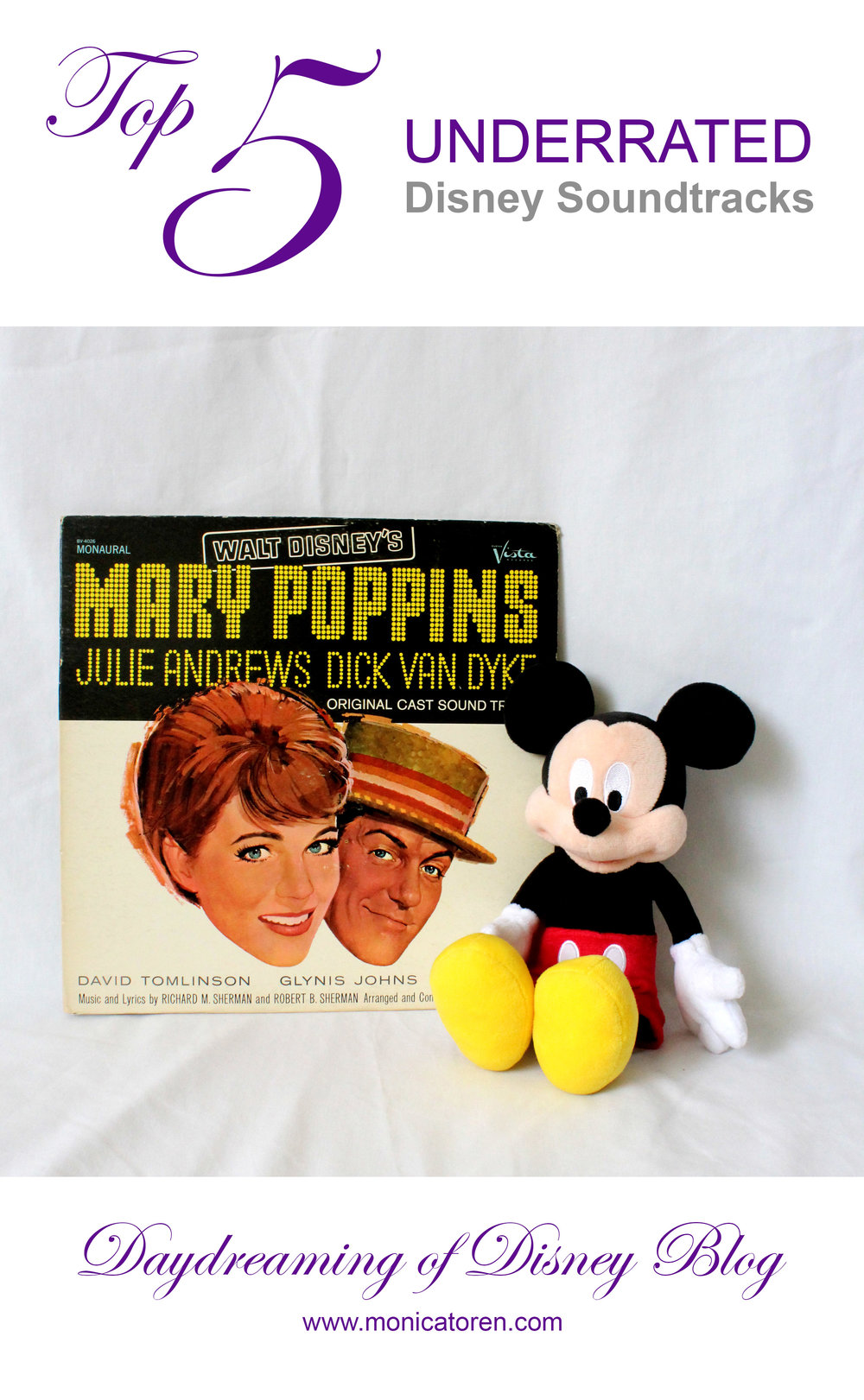 Daydreaming of Disney Blog - Top 5 Underrated Disney Soundtracks - http://www.monicatoren.com