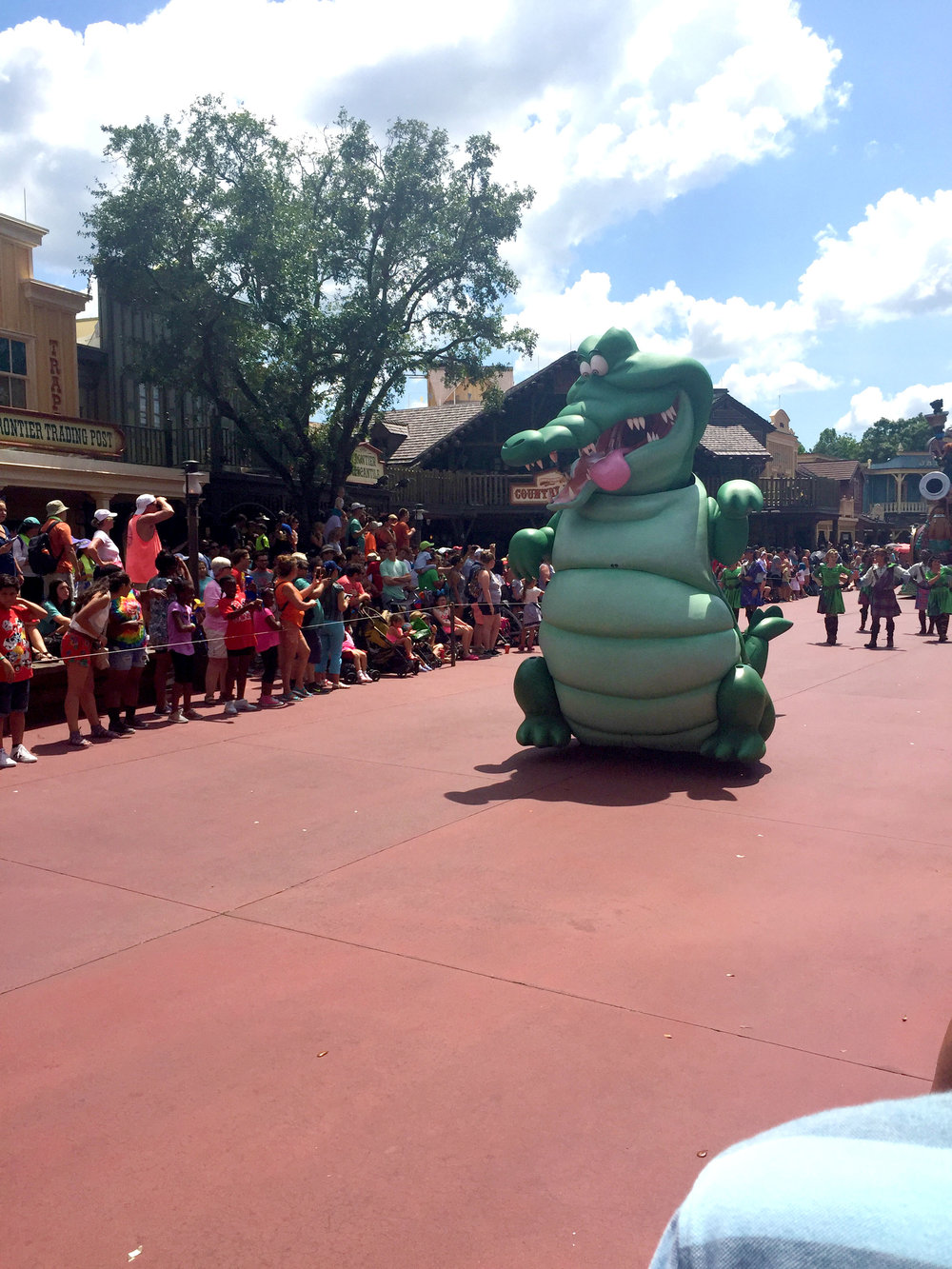 And wrapping up the Peter Pan section of the parade is the giant crocodile chasing after Mr. Smee.
